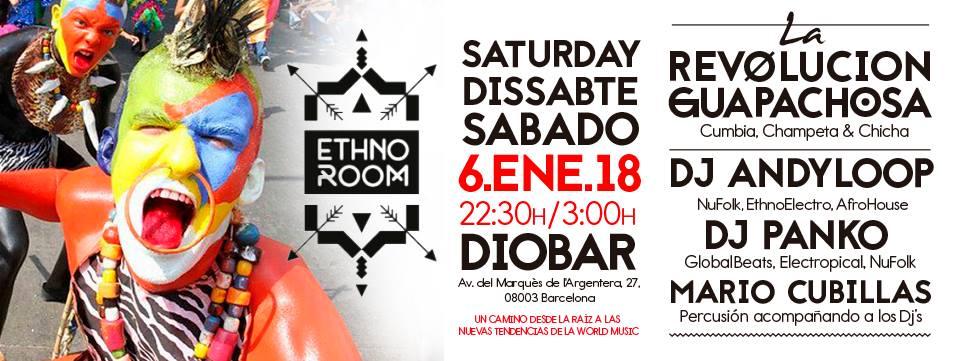 Próximo sábado 06.01.18 con la Revolución Guapachosa