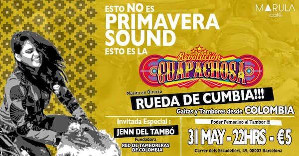 La Guapachosa & Rueda de Cumbia con Jenn del Tambó desde Colombia, en el Marula